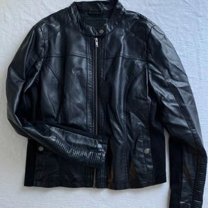 Maurice's faux leather moto jacket